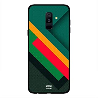 Samsung A6 Plus Case Cover Red Yellow Green Cross Stripes Pattern