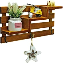 Shelf for Walls Solid Wood 3 Tier Wall Shelf -Bathroom Kitchen Living Room Storage for Kitchen