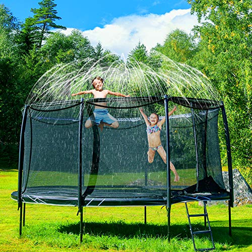AOYOO Trampoline Sprinkler, Outdoor Trampoline Water Sprinkler, Trampoline Spray Waterpark for Kids, Trampoline Sprinkler Waterpark Summer Toys for Water Play, and Summer Fun for Boys Girls (39.3 FT)