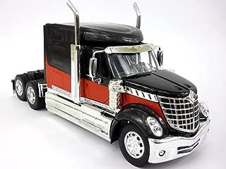 International Lonestar - Lone Star - Truck Diecast Metal 1/32 Scale Truck Model - Black/RED