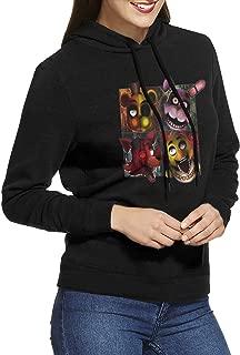Hoodie Sweatshirt Women's Five Nights At Freddy's Long Sleeve Zip-up Hooded Sweatshirt Jacket