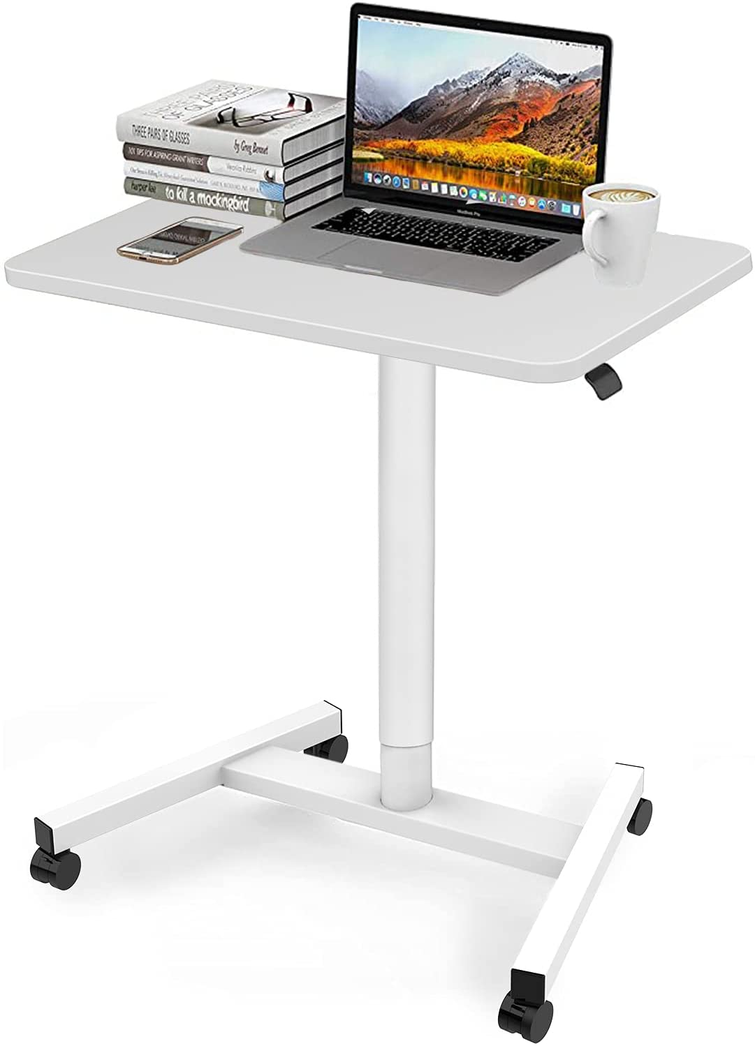 28 Inch Height Adjustable Laptop Sit Import with Desk Wheels Adj ! Super beauty product restock quality top! Stand