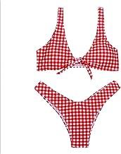 BESTYLING Women's Lovely Floral Bikini Swimsuit Tie Knot Front Swimwear