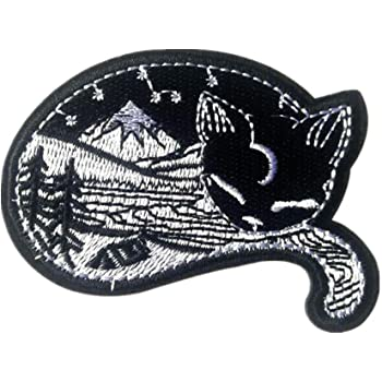 3Pack Nature In Cat Patches Iron On Sew On Patches Badge for Jacket Jean Hat Applique Craft DIY