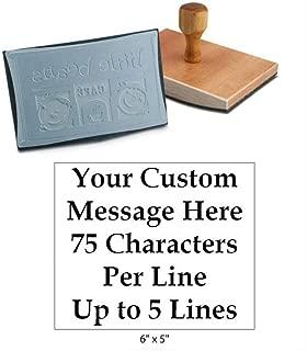 custom wood stamp