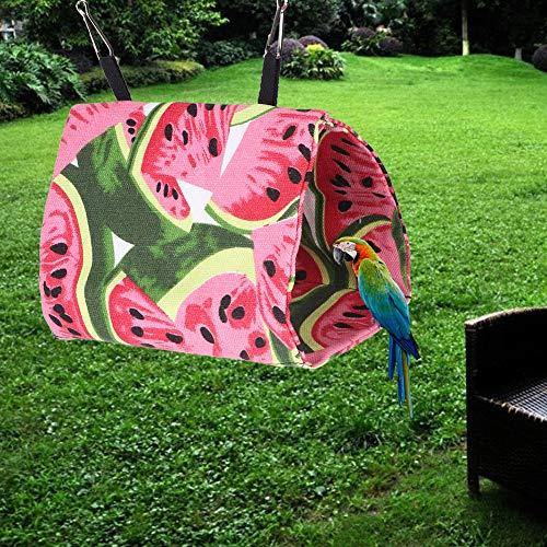 Vogel hangmat, huisdier vogel warme zachte hangmat kooi papegaaien opknoping hut tent bed grot schommel speelgoed(uil)