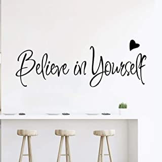 Believe in Yourself Wall Decals Inspirational Quotes Stickers Positive Wall Sayings Motivational Wall Words Peel and Stick...