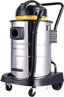 Syntrox Germany - Aspiradora industrial de acero inoxidable, 50 litros, para superficies secas y h?medas