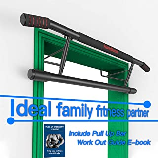 HANDSONIC Pull Up Bar Doorway, Chin up Bar no Screws, Heavy Duty Trainer for Home no Need to Installation and Disassembly