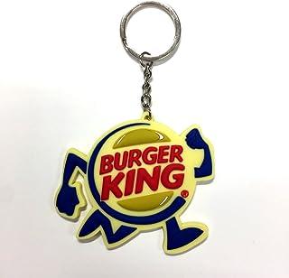 ラバーキーチェーン 【BurgerKing】バーガーキング キャラクター ロゴ 3D キーホルダー 並行輸入 アメリカン雑貨...