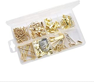 Picture Hanging Kit 200 Pieces | Hardware for Frames Heavy Duty | Great Assortment Includes:Screws, Nails, D Rings, Hooks,...