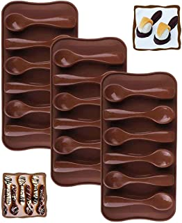 Set of THREE Spoon Shaped Chocolate Silicone Mold Fondant and Jelly Tools Decoration Cupcake Baking (Spoon (3 Pack))