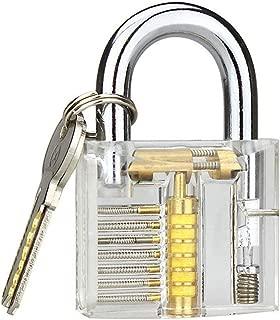 Banwen Professional Practice Lock, Transparent Cutaway Practice Tools for Locksmith (Clear Lock)