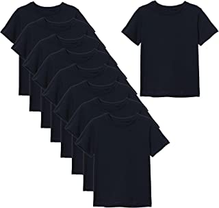 Cotton Round Neck Set of 9 T-Shirts For Men Size XXL | Basic | 100% Soft Cotton | T shirt for Running Gym & other Sports |...