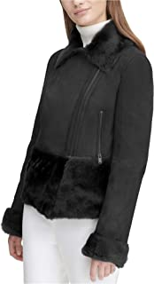 Women's 100% Lamb Shearling Motorcycle Jacket Top