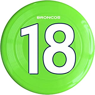 RCINC Manning #18 Denver Outdoor Game Frisbee Flying Discs Yellow