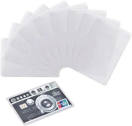 honbay 20�Transparent Kunststoff Vertikale ID Kreditkarte Halter Displayschutzfolie Sleeve : B�robedarf & Schreibwaren
