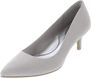 Light Grey Suede Women's Jeanne Pointed-Toe Pump 5 Wide