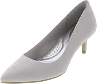 dexflex Comfort Light Grey Suede Women's Jeanne Pointed-Toe Pump 6.5 Wide