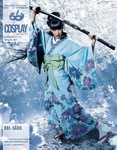 Cosplay von McCall 's Obi GAGO Kimono/Unterhemd mit abgesetztem Ärmeln und OBIS, Mehrfarbig, Größen 8–16