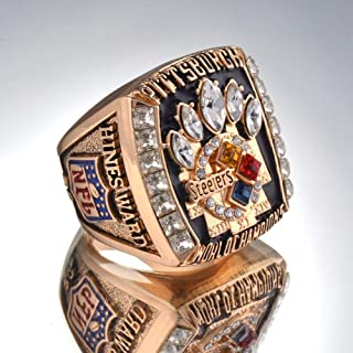 AJZYX 2005 Pittsburgh Steelers Super Bowl Championship Replica Ring Collectible Souvenir Size 9-12