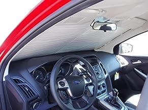 The Original Windshield Sun Shade, Custom-Fit for Ford Focus Hatchback (5D) w/Sensor 2012, 2013, 2014, 2015, Silver Series