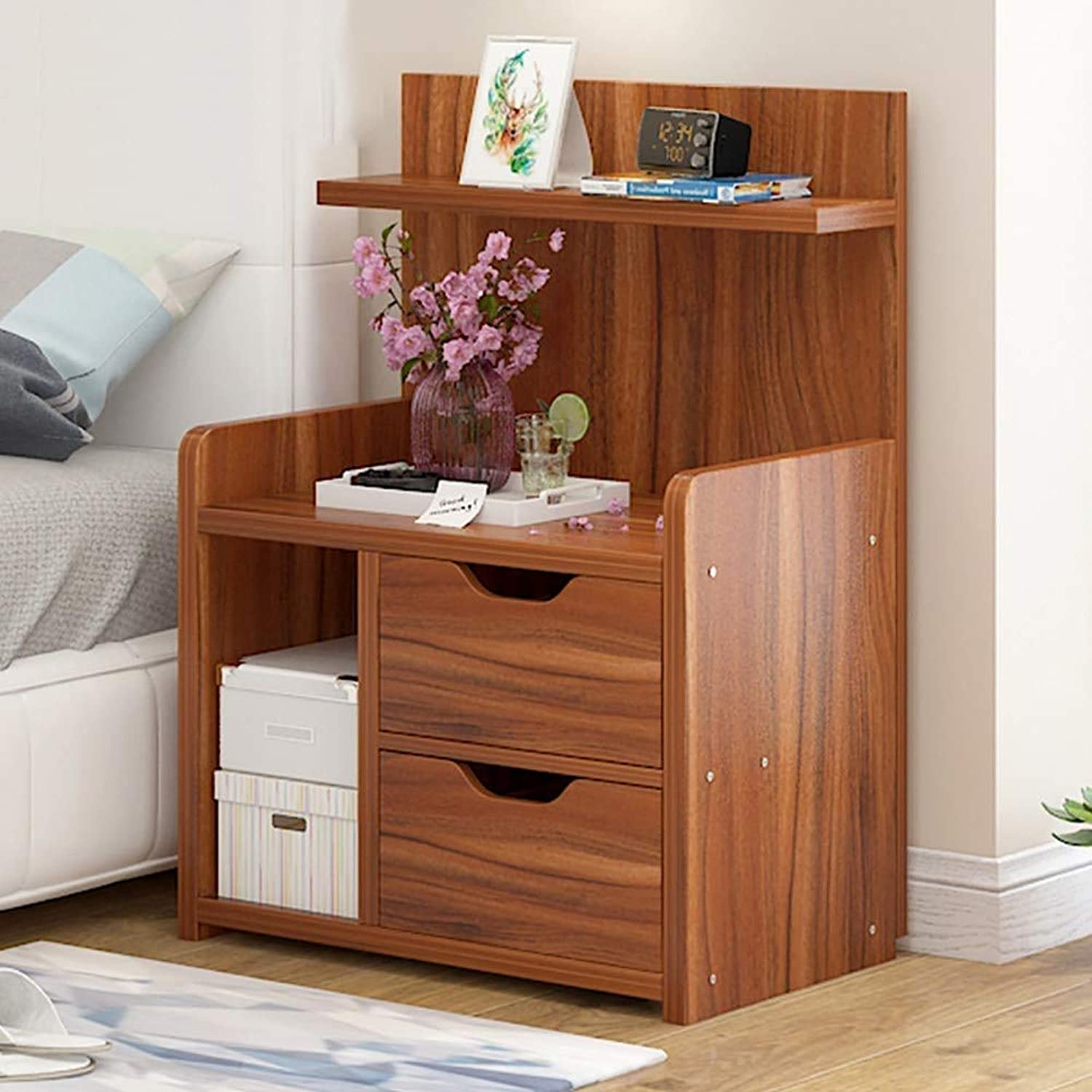 XAJGW Nightstand with 2 Drawers, Unique Modern Design Bedroom Side Table Bedside End Table, Easy to Assemble, Small and Cute (color   Style C)