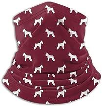 Schnauzer Silhouette Dogs Ruby Neck Gaiter, Headwear, Face Sun Mask, Magic Scarf, Bandana, Balaclava, Headband for Fishing, Motorcycling, Running, Skateboarding, Moisture Wicking UV Protection