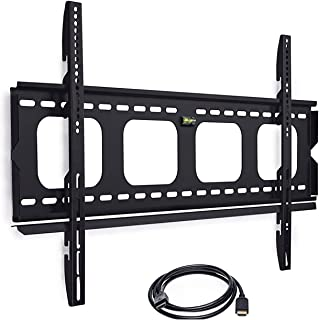 Mount-It! Low-Profile TV Mount | Flush Large TV Wall Mount | Slim Fixed TV Mount for 42-70 in. Screen TVs | VESA Compatibility up to 850x450 | 220 lbs Capacity | High Speed 6 ft HDMI Cable Included