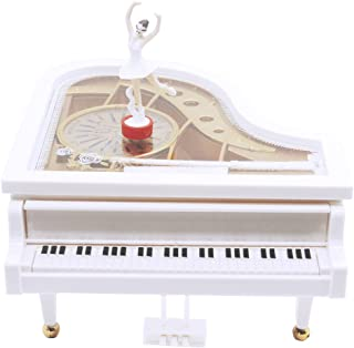 AVESON Music Box, Classical Grand Piano Shape Mechanical Ballerina Girl Dancing Kids Birthday, Melody Castle in The Sky