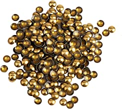 Beadsland Dome Studs Hotfix in Size 8mm,1/3 Round Flat Back Dome Studs with 100pcs (Bronze)