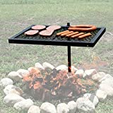 Texsport Heavy Duty Barbecue Swivel Grill for Outdoor BBQ over Open Fire (Renewed)