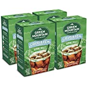 Green Mountain Coffee Roasters, Cold Brew Coffee, Alpine Roast, Dark Roast Coffee, Coarse Ground, Makes 2-48oz. Pitchers of Real Cold Brew Coffee, Comes with 4 SteePack Coffee Filters (4 Pack)