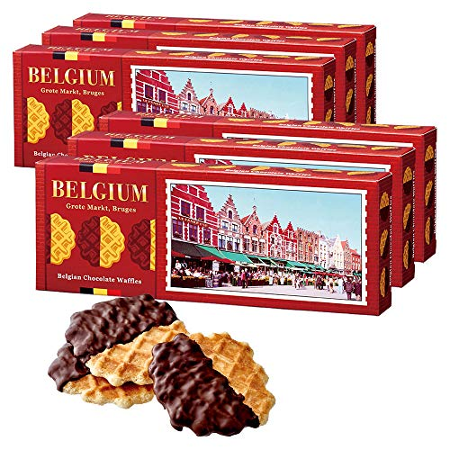 [賞味8/20][訳あり] ベルギーお土産 | チョコがけワッフルクッキー6箱セット