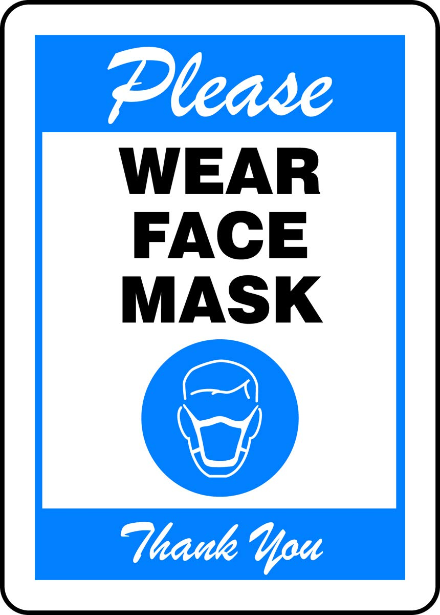Masks must be worn when working here Safety sign