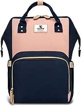 Hafmall Diaper Bag Backpack - Waterproof Travel Nappy Bag Multifunction Baby Bag (Pink&Navy Blue)