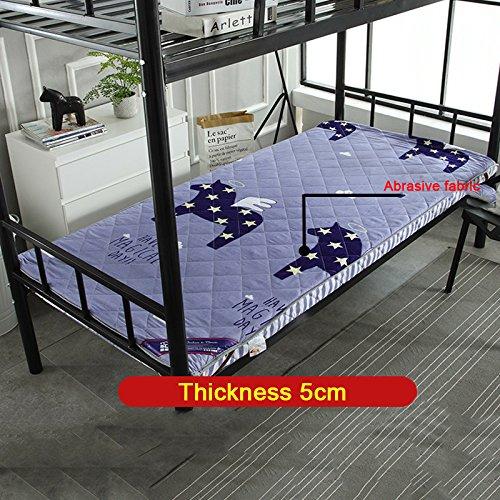 Nclon Extraíble Plegable Espesar Economía Colchón. Esteras del Tatami para Estudiante Individual Dormitorio Literas Dormitorio-C 135x200cm(53x79inch)