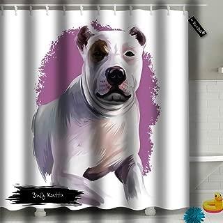 txregxy Shower Curtain Waterproof Bully Kutta Dog Breed Digital Art Or Pakistani Bathroom Shower Curtain Set with 659 Hooks 60