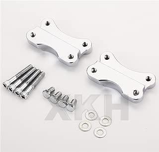 XKH Group Chrome Fender to Fork Adapter Mount Bracket For 86-14 Harley FLST W/ 21
