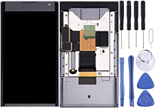 LCD Screen Mobile Phone and Digitizer Full Assembly with Frame for BlackBerry Priv (Black) (Color : Black)