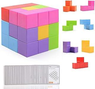 Ulikey Magic Cube Puzzle Magnéticos, Bloques de Construcción Magnéticos Cubo Juguetes Educativos, Cubo Rompecabezas Velocidad Juguete para Niños Juego de Entrenamiento Cerebral