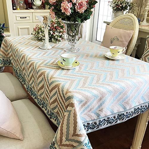 Tafelkleed, vintage, vuilafstotend, gemakkelijk te reinigen, krachtige kleuren, duurzaam, wasbaar, katoenen tafelkleed, voor binnen en buiten, 110 x 110 cm