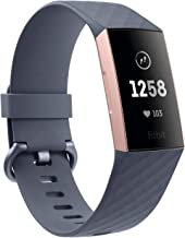 Fitbit Charge 3 Fitness Activity Tracker, Rose Gold/Blue Grey, one Size (no fitbit..