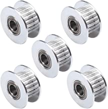 IronBuddy GT2 Timing Pulley 20 Teeth 5mm Bore with Bearing for 6mm Belt Aluminum Pulley Wheel for 3D Printer, Pack of 5 (20 Teeth)