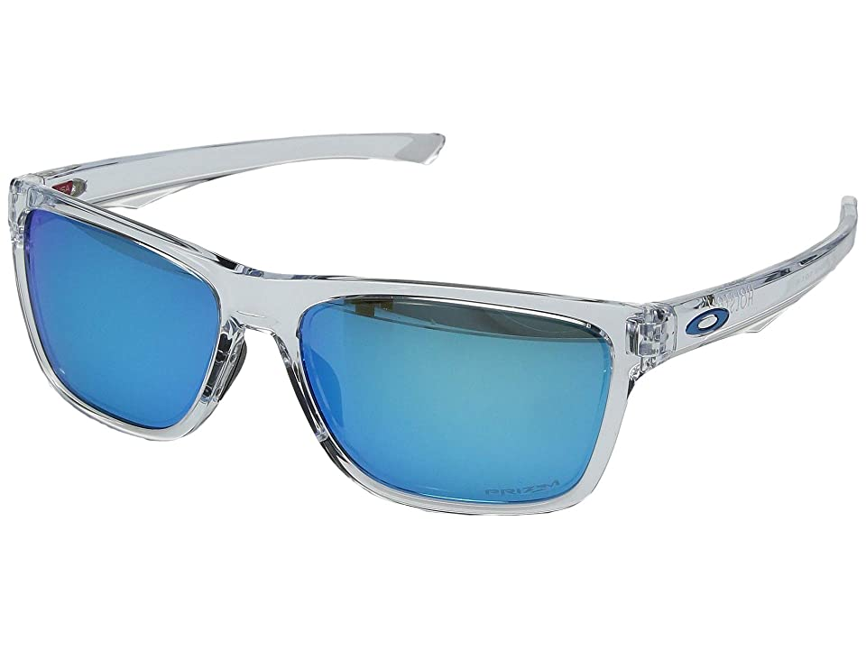 Oakley Holston (Polished Clear w/ Prizm Sapphire) Sport Sunglasses
