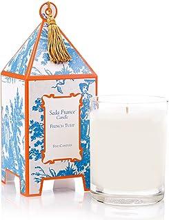 Seda France French Tulip Classic Toile Pagoda Box Candle, 10.2 oz