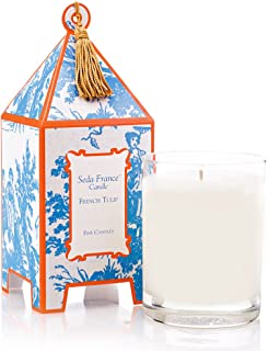 Seda France Classic Toile Pagoda Box Candle, French Tulip, 10.2 Ounce