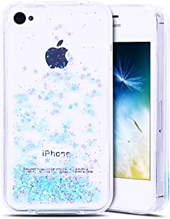 f1bfe4bf6bf Anfire Funda iPhone 4 / 4S Carcasa Glitter Silicona Líquido TPU Case  Transparente Flotante Moviendo Lentejuela