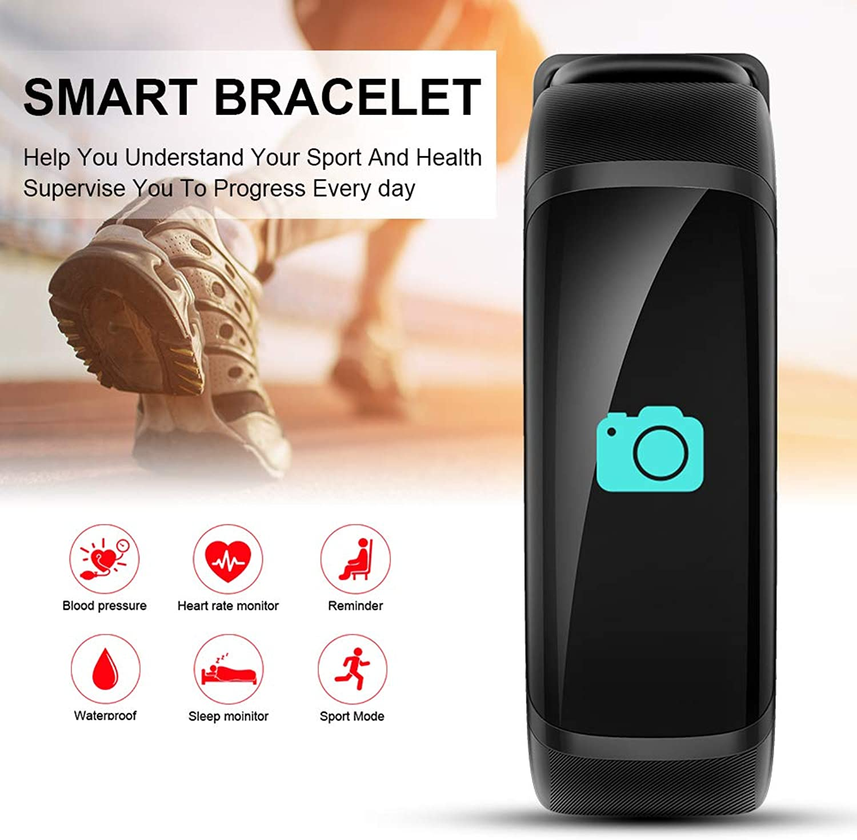 XCSOURCE M4 Heart Rate Fitness Activity Tracker blueeetooth 4.0 Smart Bracelet Black AC1890