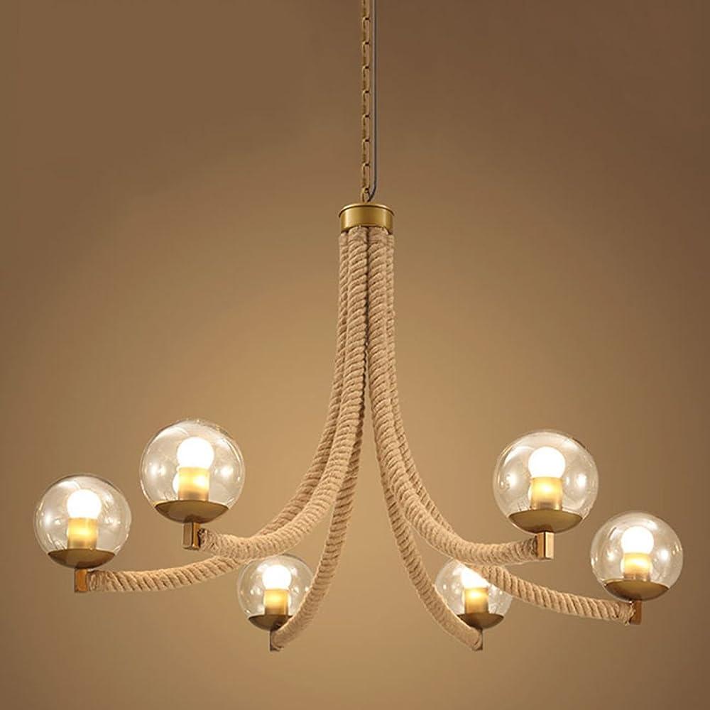 Ruanpu vintage, lampadario a sospensione in corda RP448680